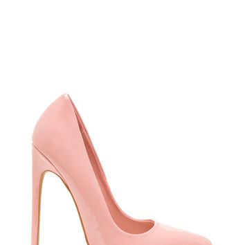 Totally Timeless Faux Patent Pumps