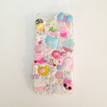 Kawaii Decoden Iphone 5/5s Case//Cute Kitty//Frosting