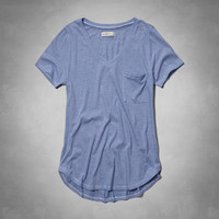 Easy V Neck Pocket Tee