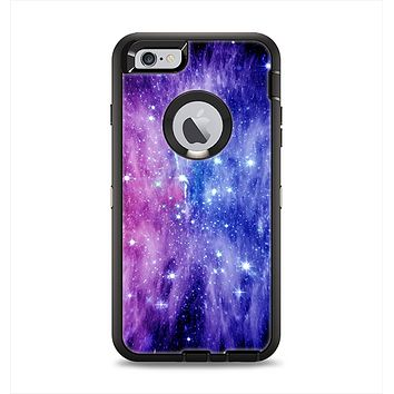 The Purple and Blue Scattered Stars Apple iPhone 6 Plus Otterbox Defender Case Skin Set
