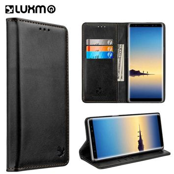 LUXMO Luxury PU Leather Case for Samsung Galaxy Note 8 Full Protective Flip Wallet Back Cover Case for Note 8 Mobile Phone Bags