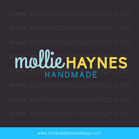 OOAK Premade Logo Design - Tricolor Lettering - Perfect as a watermark for a handmade and crafts business