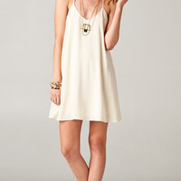 IVORY CROCHET BACKLESS DRESS