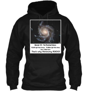 Pinwheel Galaxy Hubble Telescope Pictures Astronomy TShirt Pullover Hoodie 8 oz