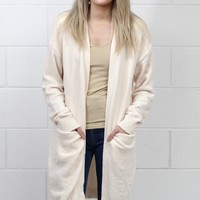 Chenille Knit Oversized Cardigan {Cream}