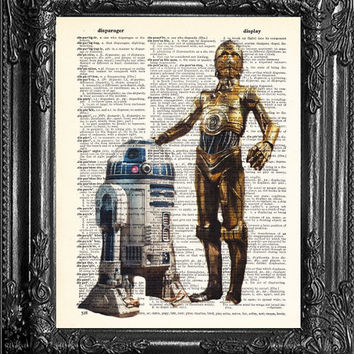 R2D2 Swr2 First ANNIVERSARY GIFT Man-Star Wars Art-Gift for friend- Gift Man-husband GIFT- Birthday Gift- Boyfriend Gift-Star Wars Print