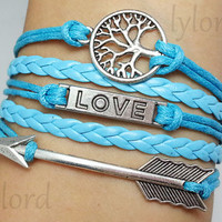 Bracelet-Love  bracelet / wishing tree bracelet / Arrow bracelet