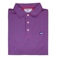 Striped Channel Marker Polo in Ultra Pink by Southern Tide