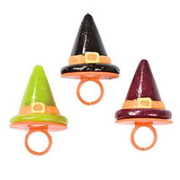 Witch Hat Lollipop Rings: 12-Piece Box