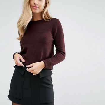 Oasis Crew Neck Knitted Jumper at asos.com