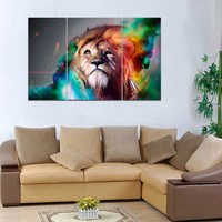 US STOCK Ready to Hang Canvas Prints Wall Art Paintings Big Lion Animals Decor