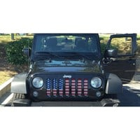American Flag / Jeep Grill (1-2 Week Delivery)
