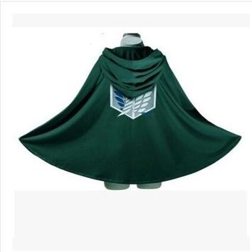 Fashion Anime no Kyojin Cloak Cape Clothes Cosplay Costume Fantasia Attack on Titan Plus Free shipping