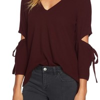 1.STATE Cozy Slit Sleeve Top | Nordstrom