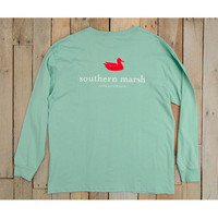Southern Marsh Authentic Long Sleeve Tee - Seafoam