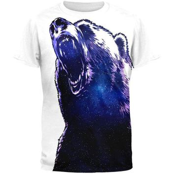 LMFCY8 Galaxy Bear All Over Adult T-Shirt
