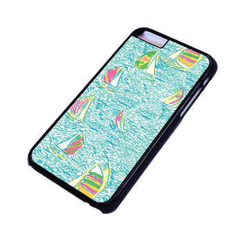 LILLY PULITZER SAILBOAT iPhone 4/4S 5/5S 5C 6 6S Plus Case Cover