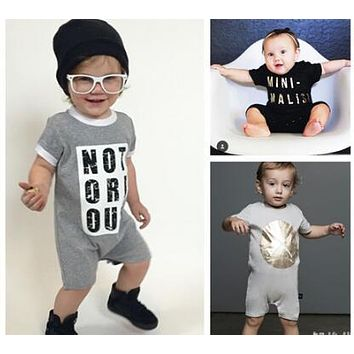 New fashion boy's Short Sleeve Romper Newborn Baby Girl Clothes Outfit kids clothes children clothing
