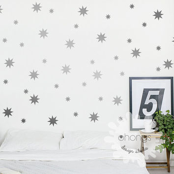 Starbursts 2 size Wall Decal / Sparkle Star Wall Decals / 2 Size Stars Wall sticker / custom Kids / Nursery decal / Home Decor / givt