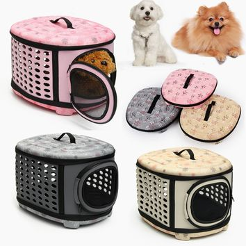 Small Pet Dog Cat Puppy Kitten Carrier Portable Cage Crate Transporter 3 Colors Choices