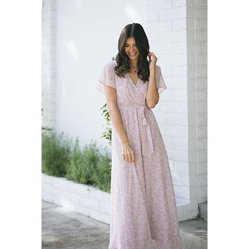 Mandy Floral Print Maxi Dress