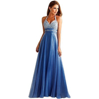 Long Sequin Evening Gown
