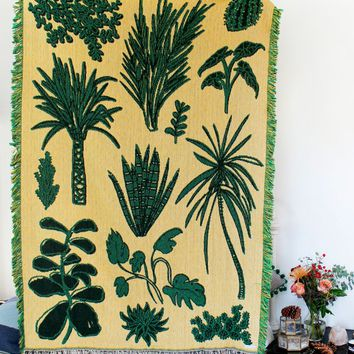 Plant Party Woven Throw Blanket