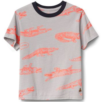 Short Sleeve Print T-Shirt|gap