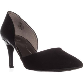 Bandolino Grenow Kitten-Heel Pumps, Black/Black, 6 US