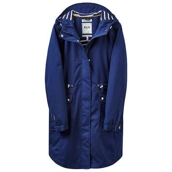 Joules Right as Rain Coastline Waterproof Jacket, French Navy at John Lewis