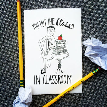 Mr. McClassy Teacher Appreciation Card