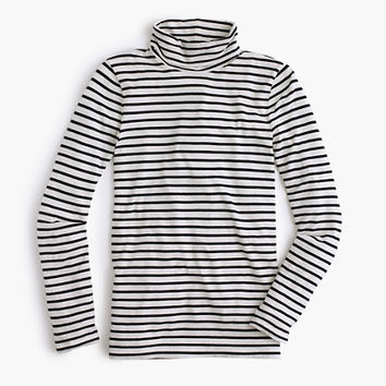 J.Crew Womens Striped Tissue Turtleneck T-Shirt