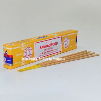 Satya Sandalwood Incense Sticks 15 Gram on RoyalFurnish.com