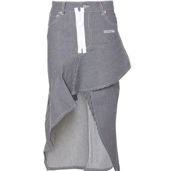 "Asymmetric ""Denim"" Skirt by OFF-WHITE"