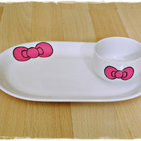 Hello Kitty Bow ceramic set