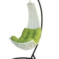 Amazon.com: Birgitte - Balance Curve Porch Swing Chair - Model - DL021WHT: Home & Kitchen