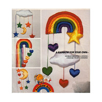 1980's McCall's 769 Rainbow Brite Mobiles for the Nursery or Any Room- Stars, Hearts, Rainbows || Vintage Craft Sewing Pattern UNCUT
