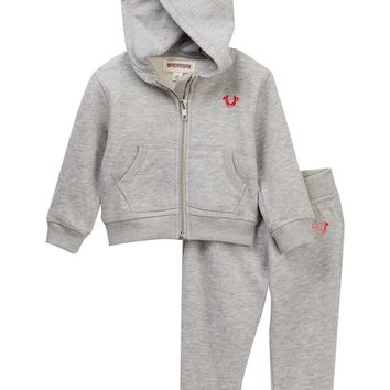 True Religion | Hoodie & Sweatpants Set (Baby Girls) | Nordstrom Rack