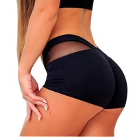Push Up Gym Sport Workout Shorts For Women Shorts Yoga Shorts Wear Fitness Solid Color Waistband Skinny Yoga Short Pants
