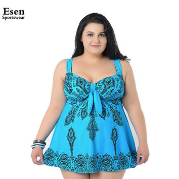 Super Large size swimsuits for women Sexy Summer beach wear Big women's Plus Size swimwears Two pieces Bathing suit 4XL-10XL