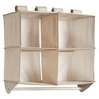 Hanging Closet Double Bar Organizer