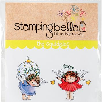 Stamping Bella Cling Stamps-Angel Squidgies Bells & Ornament