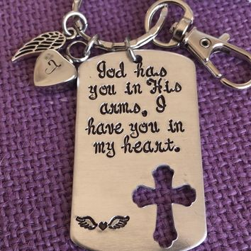 Memorial Jewelry - God has you in his arms, I have you in my heart - Cremation Jewelry - Urn - Remembrance Jewelry - Sympathy Gift - Rip
