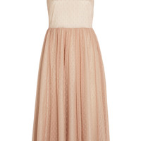 REDValentino - Point d'esprit and satin midi dress