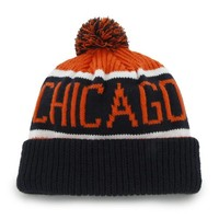 "Chicago Bears ""Calgary"" Beanie Hat with Pom - NFL Cuffed Winter Knit Toque Cap"