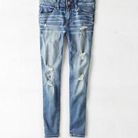 AEO Women's Factory Mid-rise Jegging Ankle (Arctic Destroy)