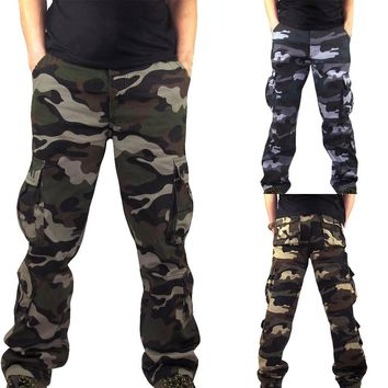 Camouflage Pocket Overalls Pants