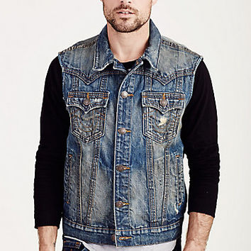 JIMMY TRIPLE NEEDLE MENS VEST