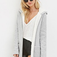 Plush-Lined Heathered Hoodie