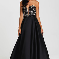 Ball Gown Style Strapless Madison James Prom Dress
